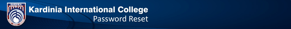 Kardinia International College - Password Reset